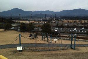 Looking west toward Yoake Mae Stadium and the Nakatsugawa valley