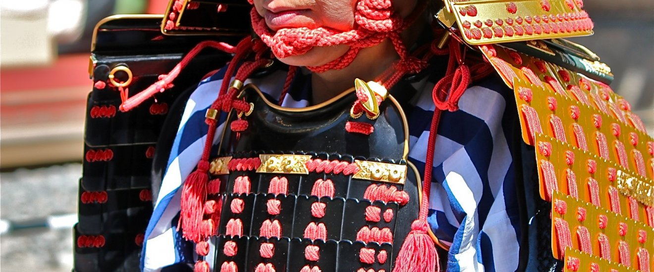One of the thousands of the locals dressed in traditional warrior attire for the 1,000-person Samurai Procession in Nikko