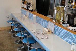 Inside counter seating