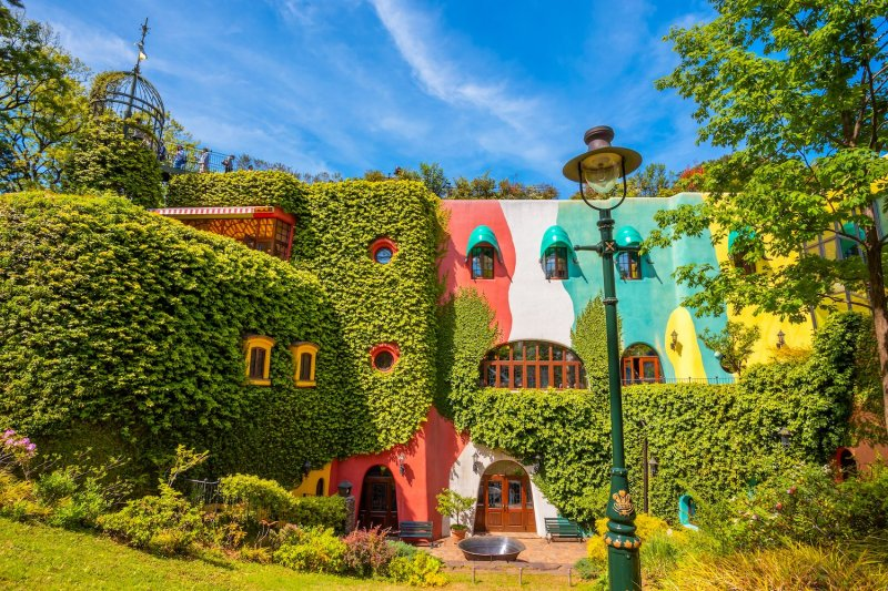 Outside Ghibli Museum